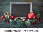 christmas background with... | Shutterstock . vector #754295626