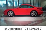 Small photo of STUTTGART, GERMANY-MAY 21, 2017: 1997 Porsche 911 (993) Turbo in the Porsche Museum. This car is the one of the most famous Porsche's