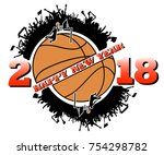 happy new year 2018 and... | Shutterstock .eps vector #754298782