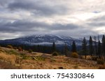 View To The Snowy Mountain In...