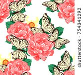 abstract elegance seamless... | Shutterstock . vector #754341292