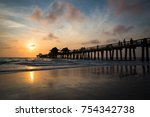 sunset at the naples pier | Shutterstock . vector #754342738