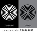 abstract logo design.logo...   Shutterstock .eps vector #754345432