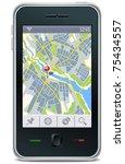 gps navigator interface with... | Shutterstock .eps vector #75434557