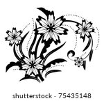 abstract floral design element | Shutterstock .eps vector #75435148