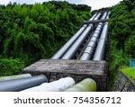 huge pipe line | Shutterstock . vector #754356712