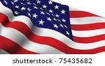 united states of america flag... | Shutterstock .eps vector #75435682