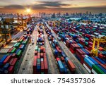 logistics and transportation of ...   Shutterstock . vector #754357306