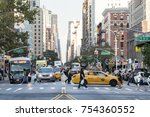 new york city   circa 2017 ... | Shutterstock . vector #754360552