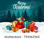 merry christmas holiday... | Shutterstock .eps vector #754362565