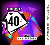 40th years anniversary card... | Shutterstock .eps vector #754363762