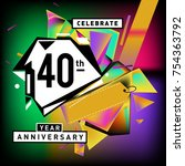 40th years anniversary card... | Shutterstock .eps vector #754363792