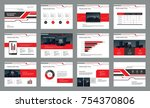 page layout design with info... | Shutterstock .eps vector #754370806