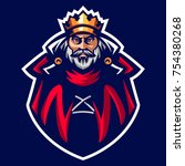 the king mascot logo of ancient ... | Shutterstock .eps vector #754380268