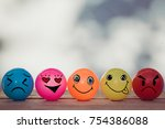 smiley balls and emotion balls... | Shutterstock . vector #754386088