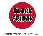 black friday sticker   Shutterstock .eps vector #754394062