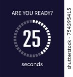 are you ready timer showing... | Shutterstock .eps vector #754395415