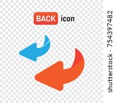 bounce back. flip over or turn... | Shutterstock .eps vector #754397482