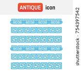 ornament greek vector. vector... | Shutterstock .eps vector #754397542