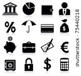 banking icons | Shutterstock .eps vector #75440218