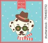 illustration vector of merry...   Shutterstock .eps vector #754403752