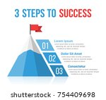 3 steps to success infographics ... | Shutterstock .eps vector #754409698