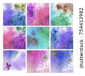 watercolor textured background | Shutterstock . vector #754413982