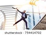 portrait happiness handsome...   Shutterstock . vector #754414702