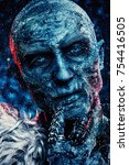 close up portrait of a zombie... | Shutterstock . vector #754416505