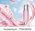 rose toner ads  elegant... | Shutterstock .eps vector #754418542