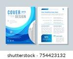 annual report  broshure  flyer  ... | Shutterstock .eps vector #754423132
