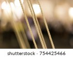 rope with background blur... | Shutterstock . vector #754425466
