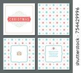 christmas greeting card vector...   Shutterstock .eps vector #754429996