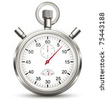 stopwatch. vector | Shutterstock .eps vector #75443188