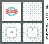 christmas greeting card vector...   Shutterstock .eps vector #754432402