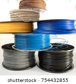 filament for 3d printing | Shutterstock . vector #754432855