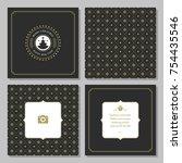 christmas greeting card vector...   Shutterstock .eps vector #754435546