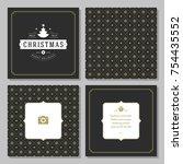 christmas greeting card vector...   Shutterstock .eps vector #754435552