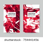 set of vector business card... | Shutterstock .eps vector #754441456