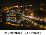 night landcape picture of... | Shutterstock . vector #754448056