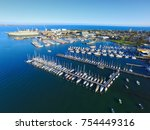 aerial view williamstown ... | Shutterstock . vector #754449316