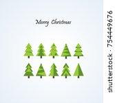 merry christmas card design....   Shutterstock .eps vector #754449676