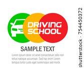 driving school. logo design....   Shutterstock .eps vector #754450372