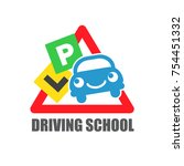 driving school for motoring.... | Shutterstock .eps vector #754451332