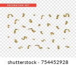 golden serpentine  isolated... | Shutterstock .eps vector #754452928