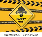 illustration of safety first...   Shutterstock .eps vector #754454782