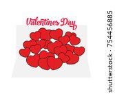 valentines day card.vector | Shutterstock .eps vector #754456885