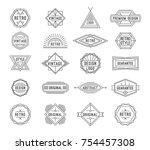 set of minimal geometric... | Shutterstock .eps vector #754457308