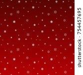 snow  snowfall  falling... | Shutterstock .eps vector #754457695