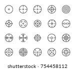 simple set of crosshair related ... | Shutterstock .eps vector #754458112